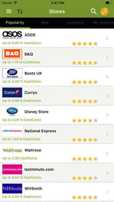 cashbackkorting-app